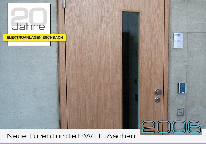 Neue Türen für die RWTH Aachen